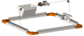 Elevación del sistema de alimentación de cadena plana
