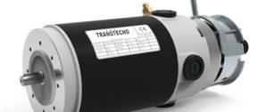 IP65 gelijkstroommotor met rem Transtecno