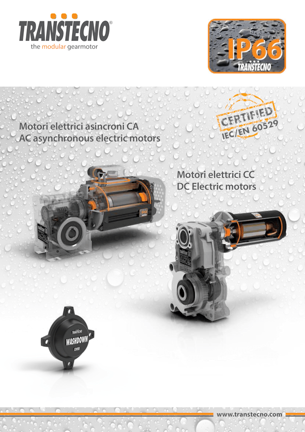 Motores IP66, CC e CA | TRANSTECNO